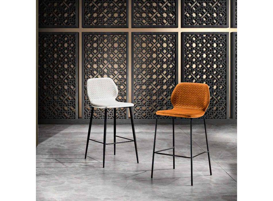 Banco de cozinha acolchoado de veludo colorido de design moderno - Scarat