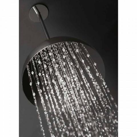Cabeça de chuveiro com sino de aço com braço arqueado Made in Italy - Auro
