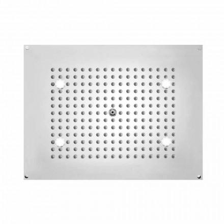 Cabeça de chuveiro Bossini retangular Sonho com luzes LED, design moderno