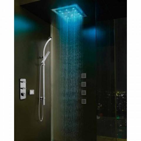 Cabeça de chuveiro com cromoterapia e decorações em Swarovski Bossini