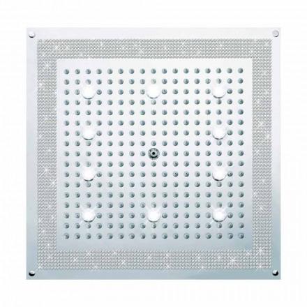 Bossini Shower Head Dream, com luzes LED e decorações Swarovski