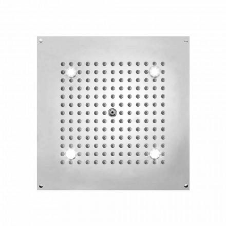 Cabeça de chuveiro Bossini Square Sonho com luzes LED, design moderno