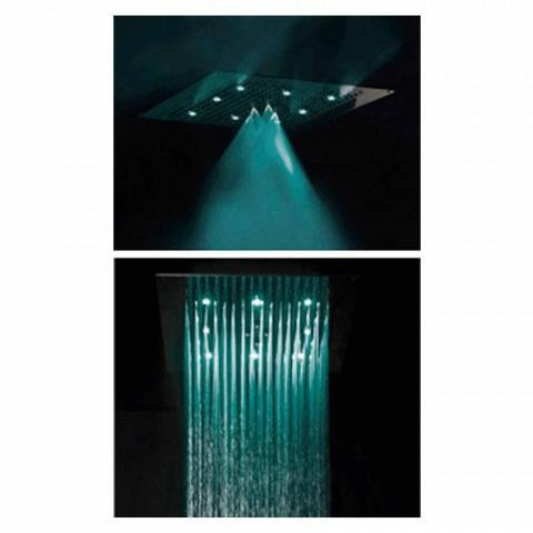Cabeça de chuveiro de teto com dois jatos de LED Bossini Dream Neb