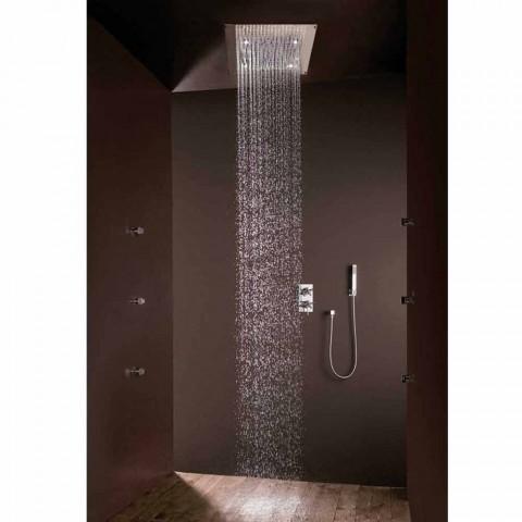 Cabeça de chuveiro com design moderno jato de chuva e luzes LED