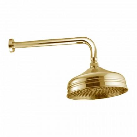 Cabeça de chuveiro de jato único de latão com design clássico feito na Itália - Tenco