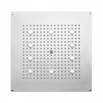 Cabeça de chuveiro Bossini Square Dream Neb w / jato de chuva e luzes LED, design moderno