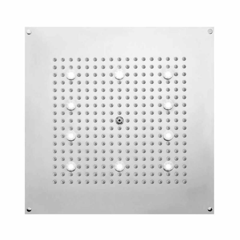 Chuveiro de cabeça quadrada com chuveiro e luzes LED Bossini