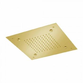 Cabeça de chuveiro quadrada de aço inoxidável com nebulizadores Made in Italy - Selmo