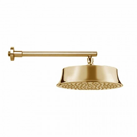 Cabeça de chuveiro redonda de parede em latão Classic Style Made in Italy - Betto