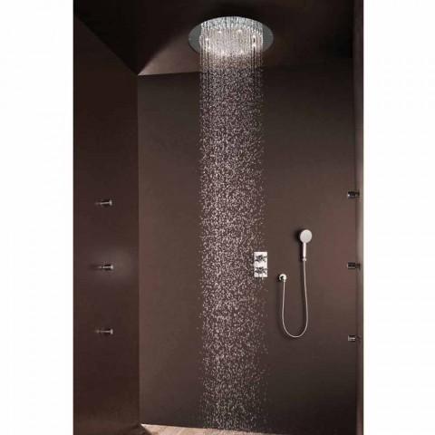 Modern rodada chuveiro chuveiro para um jato com luzes LED Bossini