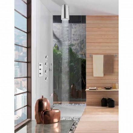 Cabeça de chuveiro Bossini Dinamic-Inox by, com decorações Swarovski