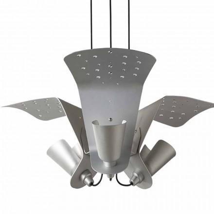 Suspensão com três lâmpadas de design de metal Tractor - Toscot