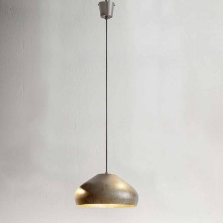 Design em aço antigo, diâmetro da suspensão 450 mm - Materia Aldo Bernardi