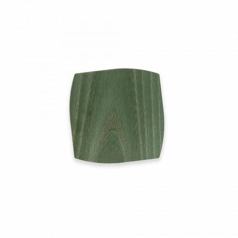 Porta-copos quadrada de madeira moderna feita na Itália - Abraham