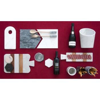 Bases para copos modernas em mármore colorido fabricado na Itália, 2 peças - Nessa
