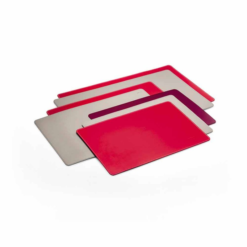 Almofada de mesa de couro fácil