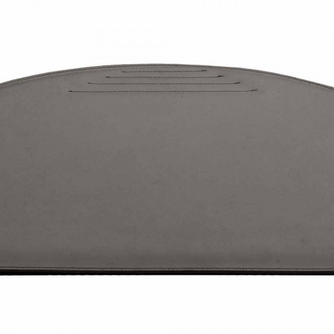 Almofada de mesa de couro regenerado com costuras de batente fabricadas na Itália - Medea