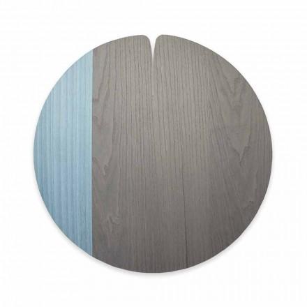 Toalha de mesa moderna fabricada na Itália em madeira natural natural, 4 pedaços - Stan