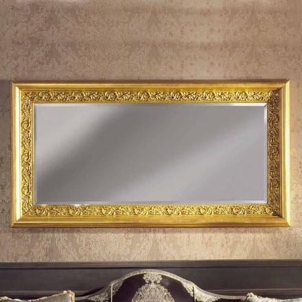 Espelho de parede de madeira ayous artesanal moderno produzido na Itália Enrico