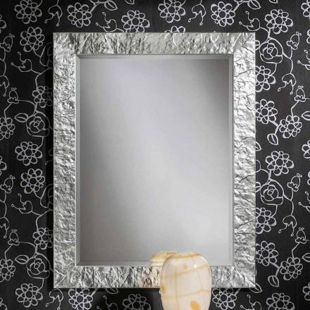 Espelho de parede feito à mão de madeira ayous ouro, produzido na Itália, Antonio