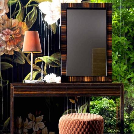 Espelho de parede / piso em madeira de ébano Grilli Zarafa made in Italy