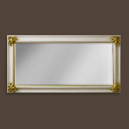 Espelho de parede feito à mão de madeira do projeto moderno feito em Itália Stefano