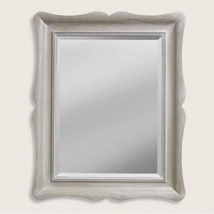 Espelho de parede de madeira de design moderno ayous, produzido na Itália, Angelo