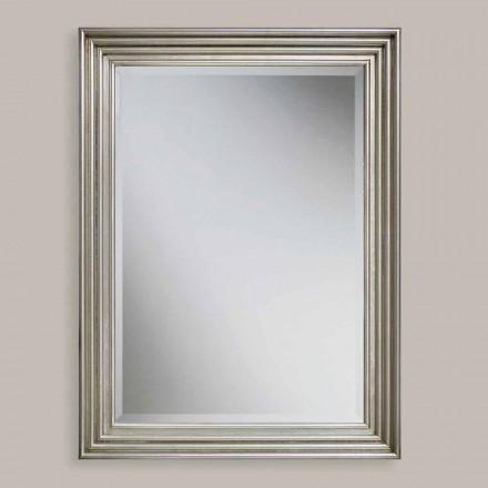 Espelho de parede feito à mão de ouro / prata, produzido na Itália, Stefania