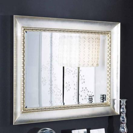 Espelho de parede retangular em madeira ayous, feito à mão na Itália, Igor