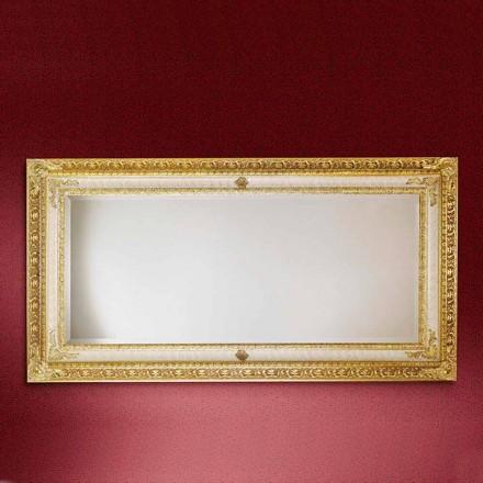 Espelho de parede retangular de madeira, produzido na Itália, Raffaello