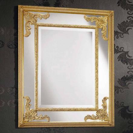 Espelho de parede retangular em madeira, produzido na Itália, Valentino
