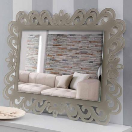 Espelho de parede retangular de design moderno em Plexiglass Tortora - Selly