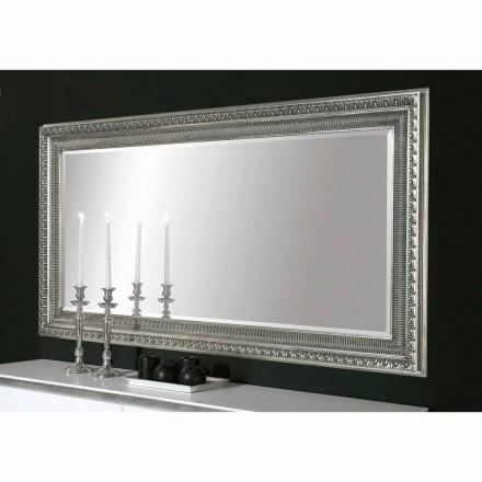 Claudio espelho de parede de madeira artesanal design moderno, feito na Itália