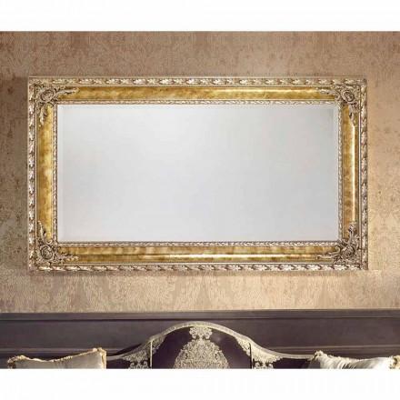 Espelho de parede retangular com linhas modernas, feito na Itália, Umberto