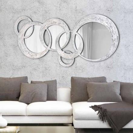 Designer de Espelho de Parede Circles por Viadurini Decor, fabricado na Itália
