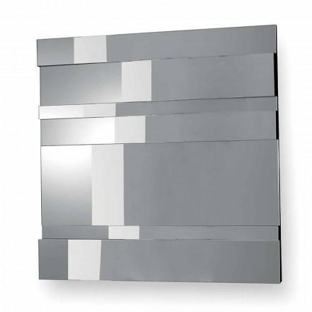 Espelho de parede de design moderno em vidro e metal fabricado na Itália - Pallino