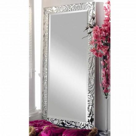 Espelho de parede de madeira de design moderno, produzido na Itália, Augusto