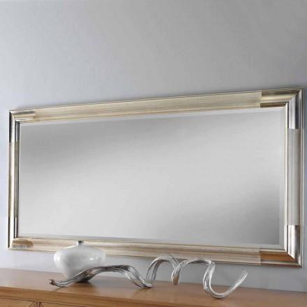 Espelho de parede moderno feito de madeira, produzido completamente na Itália, Piera