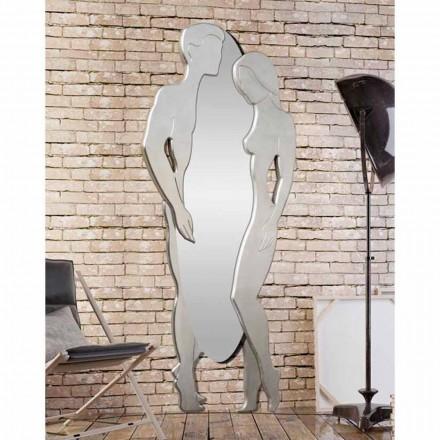 Espelho de parede Homem e mulher por Viadurini Decoração, design moderno