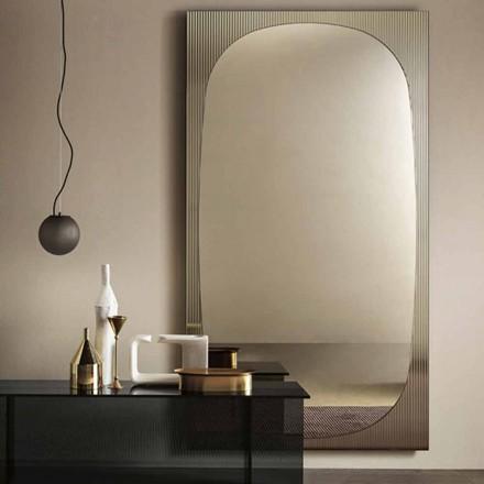 Espelho de parede moderno com espelho de bronze fabricado na Itália - Bandolero