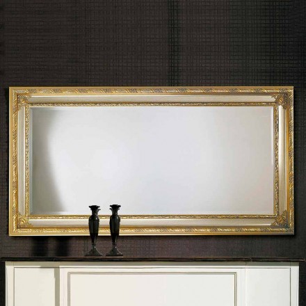 Espelho de parede moderno em madeira ayous, produzido na Itália, Armando