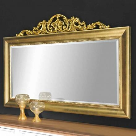 Espelho de parede moderno feito de madeira, produzido completamente na Itália, Kevin
