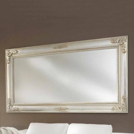Espelho de parede feito à mão de madeira ayous, produzido na Itália, Alessio