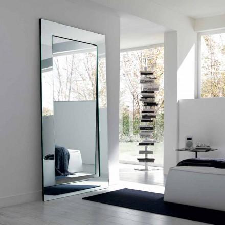 Espelho de pé retangular de design moderno fabricado na Itália - Salamina