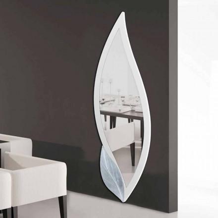 Espelho em forma de pétala, design moderno