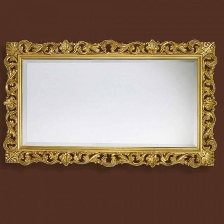 Espelho moderno feito à mão de madeira, produzido completamente na Itália, Nicol
