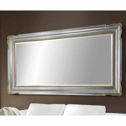 Espelho de parede feito à mão de madeira, completamente produzido na Itália, Cristian
