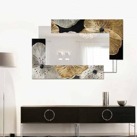 Designer Pequeno Espelho De Parede Petunia Oro Scomposta
