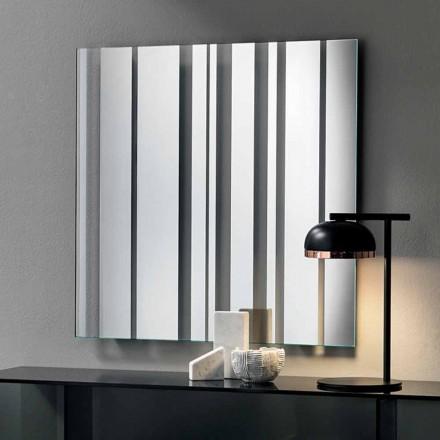 Espelho de parede quadrado de design moderno fabricado na Itália - Coriandolo