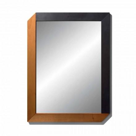 Espelho Retangular com Moldura de Madeira da Made in Italy Design - Cira